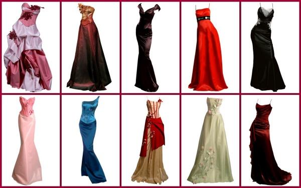 Вечерние платья в фотошоп